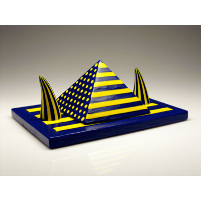 Yellow & Blue Pyramid with Horns