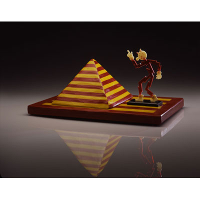 Red & Yellow Pyramid with Reddy Kilowatt