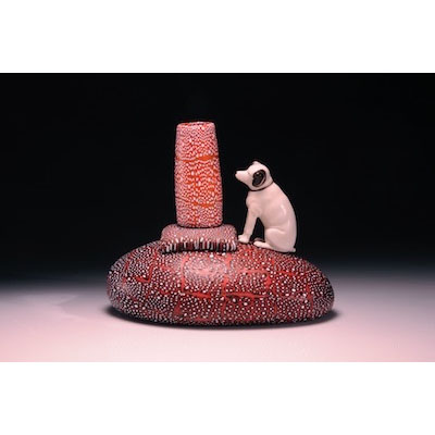 RCA Victor Dog with Orange and White Cylinder