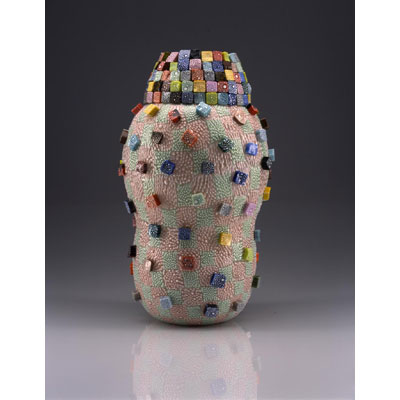 Granulare Murrine Pot With Ramparts
